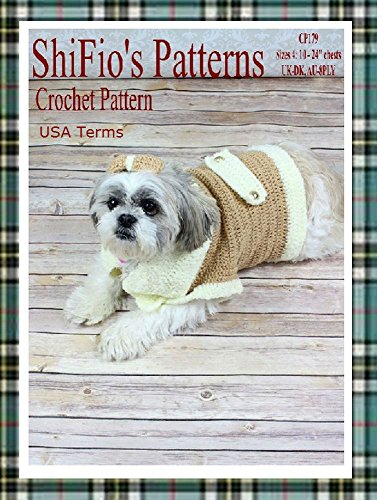 Crochet Pattern Cp179 Dog Coat Small Medium Large Extra Large