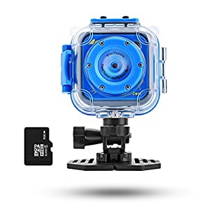 Waterproof Kids Camera, AMKOV Kids Action Cam with Micro SD Card