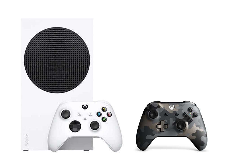 추가 컨트롤러가있는 XBOX 시리즈 S 콘솔-NIGHT OPS CAMO 스페셜 에디션