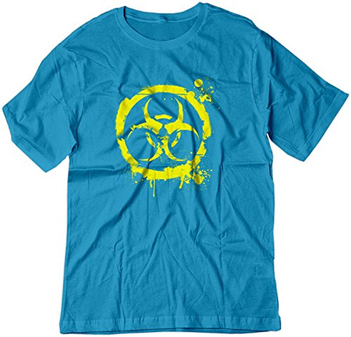 Price comparison product image BSW Youth Biohazard Grunge Paint Splatter Biological CDC Circle Shirt XS Sapphire