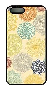 iPhone 5 5S Case PC Customized Unique Print Design Colorful Flowers iPhone 5/5S Cases