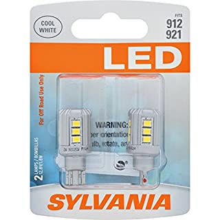 SYLVANIA - 912 LED White Mini Bulb - Bright LED Bulbs, Ideal for Backup, Courtesy, Daytime Running Light (DRL), Dome, Door Mirror and More. (Contains 2 Bulbs)
