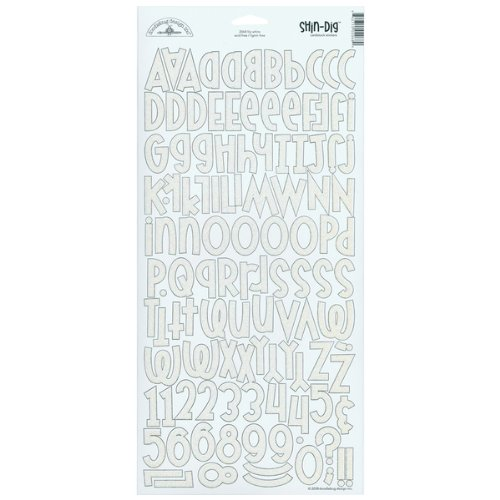 - Cardstock Alpha Stickers -Sugar Coated Lily White 1 pcs sku# 625569MA