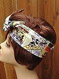 Wired Headband Mickey Mouse Disney Cartoon Print Bandanna Wired Dolly bow Rockabilly Wire Scarf Headband Bohemian Rabbit Ears