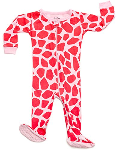 e745b7cdbc84 DinoDee Baby Girls Footed Pajamas Sleeper 100% Cotton Kids Pjs (6 ...