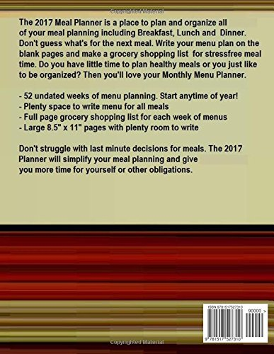 2017 meal planner blank meal planner for 2017 includes weekly