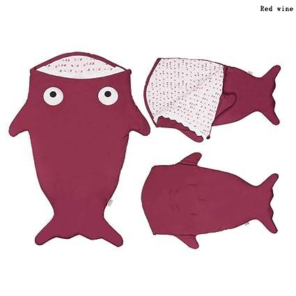 mougu8003 Saco de Dormir para bebé con diseño de tiburón (115 x 60 cm)