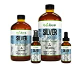 Kaiame Naturals Colloidal Silver | Large 16 oz Glass Bottle | Natural Immune Support Supplement | Ionic Silver, 10 PPM | Safe for Adults, Children, all Pets and Plants!