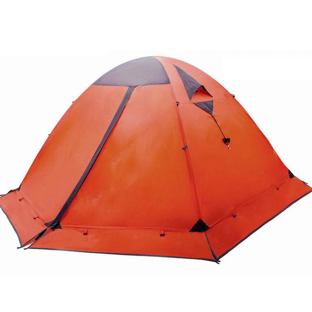 AX-outdoor products Doppeltes kampierendes Überdachungszelt des Zeltes im Freien Doppeltes Wasserdichtes Markisenpolyestertuch mit Schneescheibe/rote Farbe 210  130  110cm