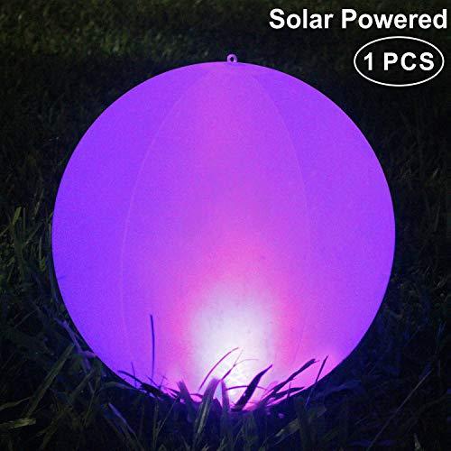 Luz Solar de Jardin,LED Exterior Solar de Globo,IP68 Impermeable Lampara Solar Piscina,Cambio Colores Luz Solar Jardin,para Decoracion de Patio, Cesped, Piscina,Paisaje(1PACK)