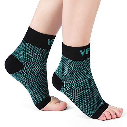 VIPEX Ankle Brace Plantar Fasciitis Socks, Compression Foot Sleeves for Men Women, 1 Pair Heel Socks for Injury Recovery, Joint Pain, Arch Support, Pain Relieve - Pie Lab