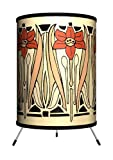 Lamp-In-A-Box TRI-DEC-NOUVB Décor Art - Art Nouveau Beige Tripod Lamp
