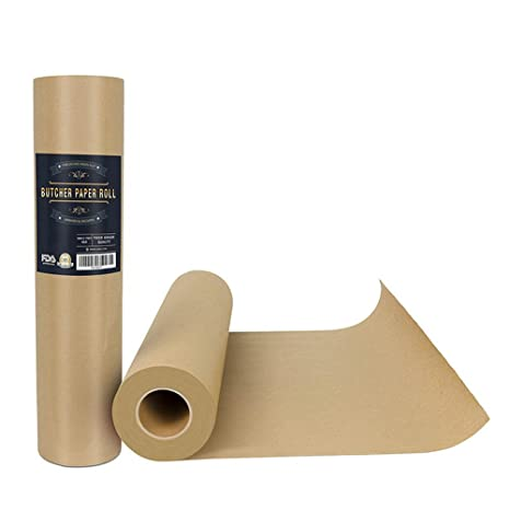 BESTONZON - Rollo de papel kraft para ahumar barbacoas y carnes en tubo de transporte duradero