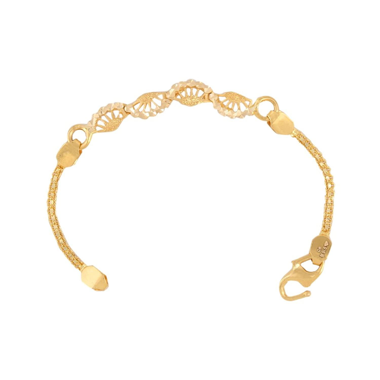 WHP Jewellers 22k Yellow Gold Charm Bracelet: Amazon.in: Jewellery