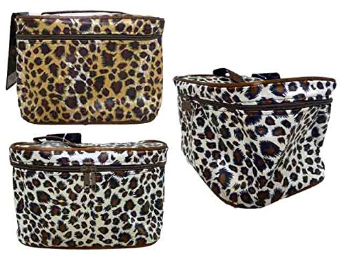 COSMETIC BAG BROWN COLOR 20*13*11CM, Case of 144 by DollarItemDirect