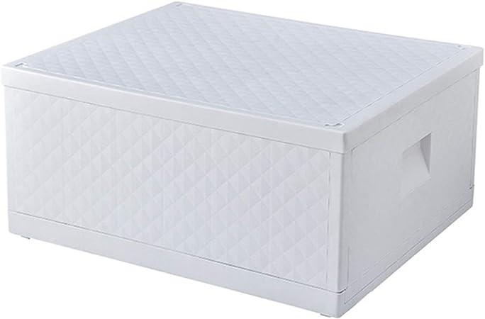Caja de almacenaje Caja de Almacenamiento de Ropa Plegable de Plástico Blanco, Caja de Almacenamiento de