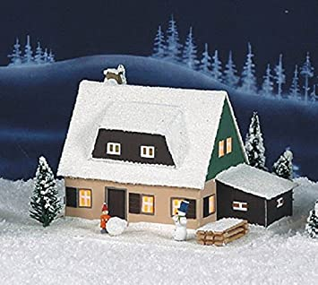 Amazon De Lichterhaus Erzgebirgshaus Elektrisch Beleuchtet Lxbxh Ca