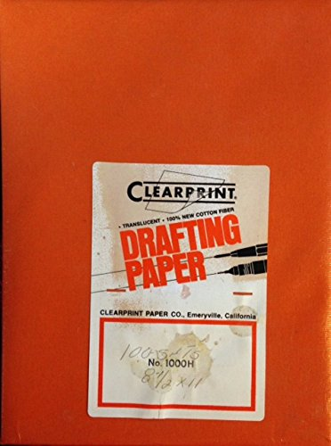 Clearprint 1000H Series 8.5 x 11 - 100 Sheets - Translucent Drafting Paper