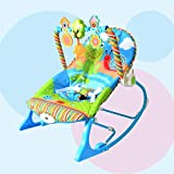 LZTET Swings Chair Baby Multi-function Baby Rocking Chair Child Comforting Soothing Vibration Recliner Shake Swing Seat Chair Toy,Blue