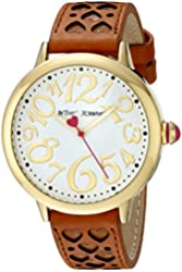 Betsey Johnson Women's BJ00540-02 Analog Display Quartz Brown Watch