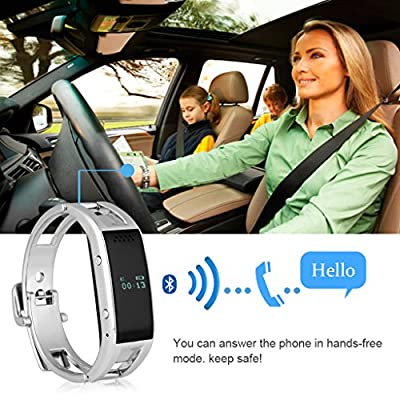 Excelvan Fashion Women's MTK6260 Bluetooth Phone Companion Smart Bracelet Watches Sync Call SMS Music For IOS (Part Function) Android Samsung HTC LG Sony ZTE Mi Sharp Huawei Oppo Etc (Anti-lost,Remote Capture,Fitness Tracker,Alarm Clock)