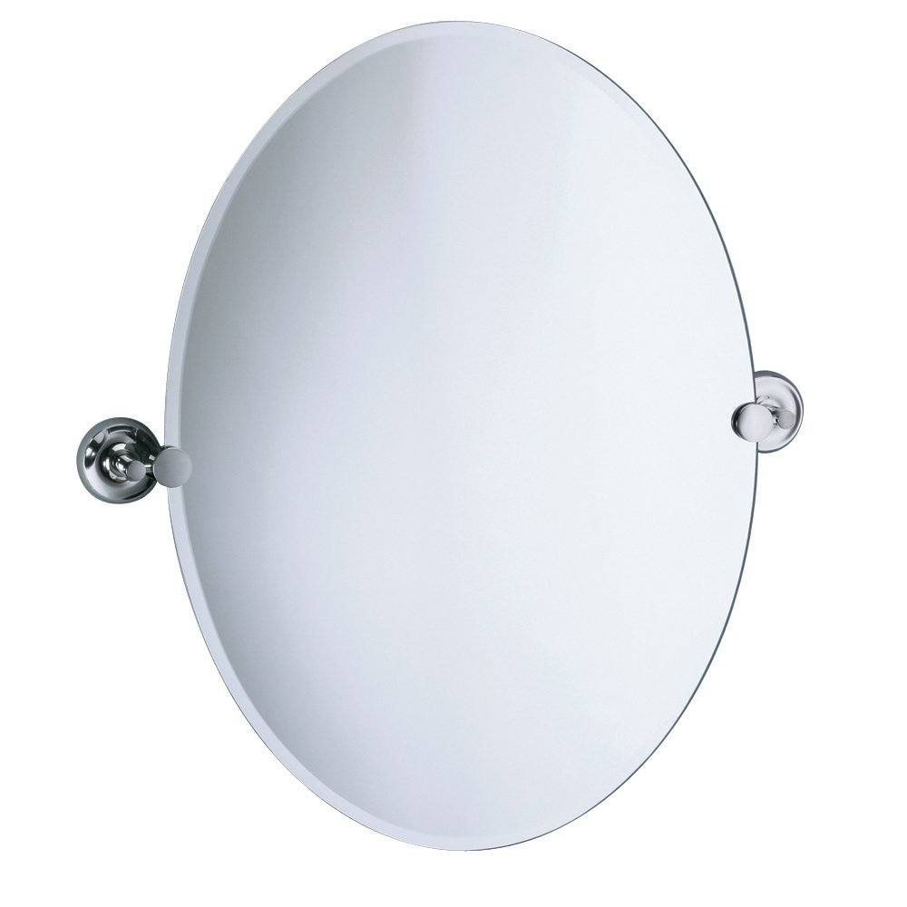 Amazon.com: Gatco 5079 Designer II Oval Wall Mirror, Chrome: Home ...