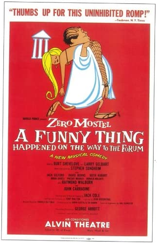 A Funny Thing Happened on the Way to the Forum Broadway Movie POSTER 22 x 14
