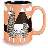 Search : Kitsch'n Glam 16 Oz Mug, Llama, Coral