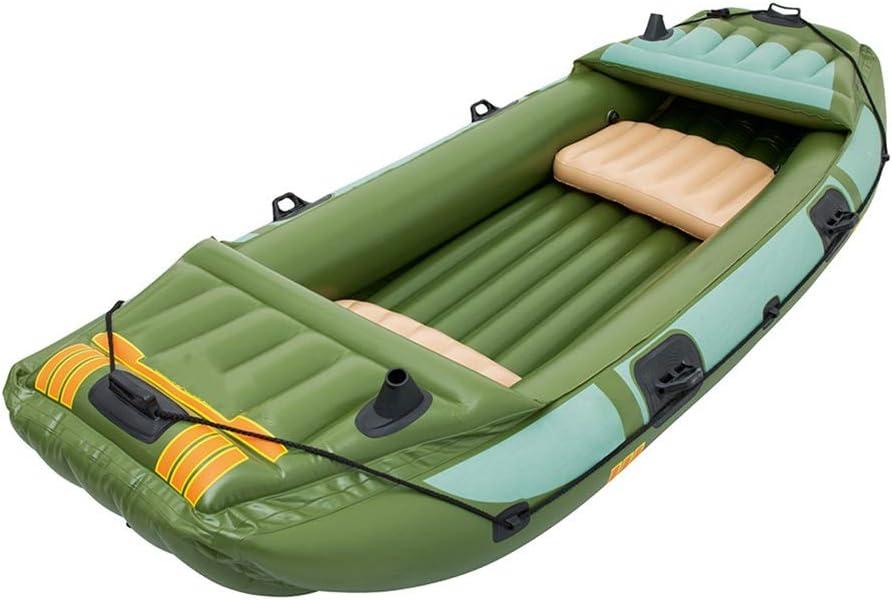 カヤック インフレータブルボート三太い釣りボートディンギーレザーKayakのKayakのホバークラフト (色 : 緑, サイズ : 3.16x1.24M) 緑 3.16x1.24M