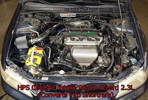 Red HPS Performance 837-579R Cold Air Intake Converts to Shortram