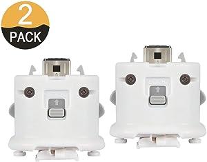 2PCs WII Motion Plus MotionPlus Adapter Sensor 2 Pack External Remote Sensor Accelerator Attachment Sports Resort Accessories for Nintend WII U Remote Controller White