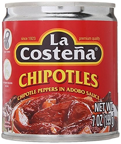 La Costena Chipotle Peppers in Adobo Sauce 7 oz. (Pack of 2) (Chipotle Peppers In Adobo Sauce La Costena)