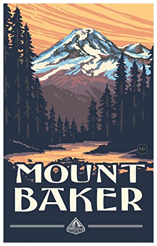 Mount Baker Travel Art Print Poster by Paul A. Lanquist (12