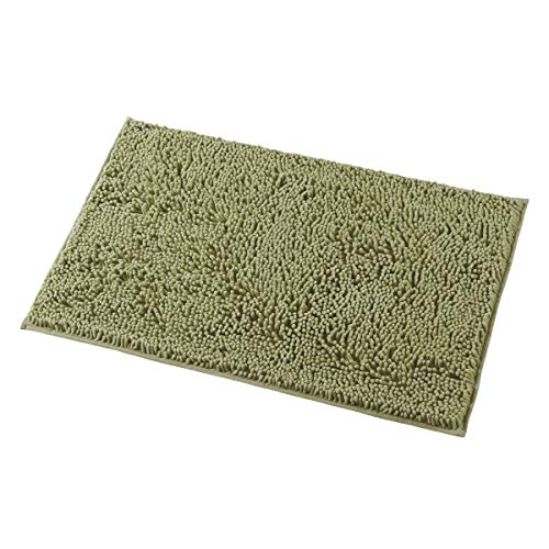 MAYSHINE 20x32 Inches Non-Slip Bathroom Rug Shag Shower Mat Machine Washable Bath Mats with Water Absorbent Soft Microfibers of Sage Green ()
