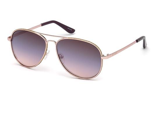 Gold//Dark Havanna Braun Unisex Sonnenbrille Guess Damen// Herren Sonnenbrille