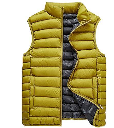 Chicos Hombre Chaleco Alto fashion Gelb Acolchado para Chaleco Otoño Clásico Cuello Acolchado con Laisla Acolchado Invierno De Y Chaleco Chaleco De HqzwOB