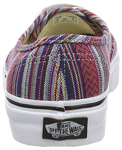 Vans Authentic, Zapatillas de skateboarding Unisex Negro (Guate Weave - Black/Multi)