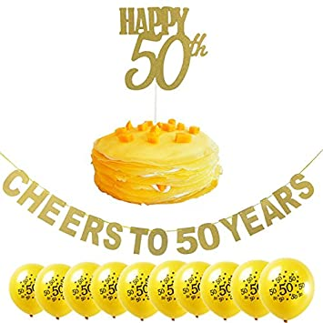 Losuya 50 º Kit de decoración de fiesta de cumpleaños ...