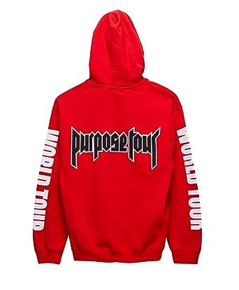 Purpose Tour Hoodie World Tour Justin Bieber Red