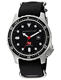 Momentum Men's 1M-DV44B7B Analog Display Japanese Quartz Black Watch