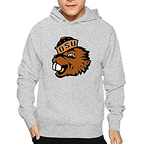 ZHENGAIMEI Adult Oregon State Beavers Pre-cotton Hoodie Tshirts (Willie Nelson Patch)