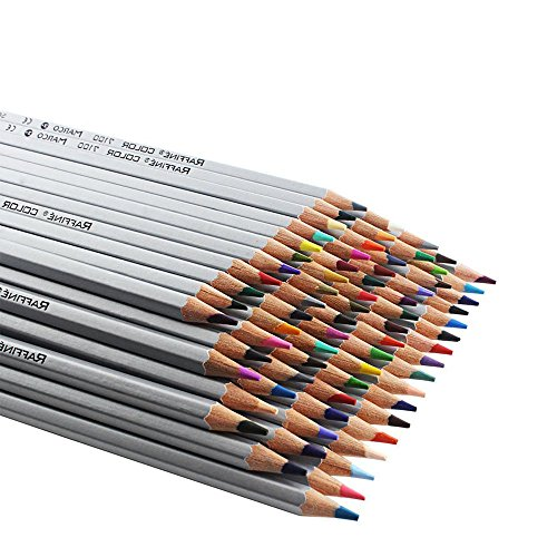 Art Drawing Pencils, Set of 72 Assorted Colors Huhuhero Professional Premium Art Colored Pencils For Artist Sketch / Secret Garden, Recycled Wood Environmentally Friendly Non- Toxic