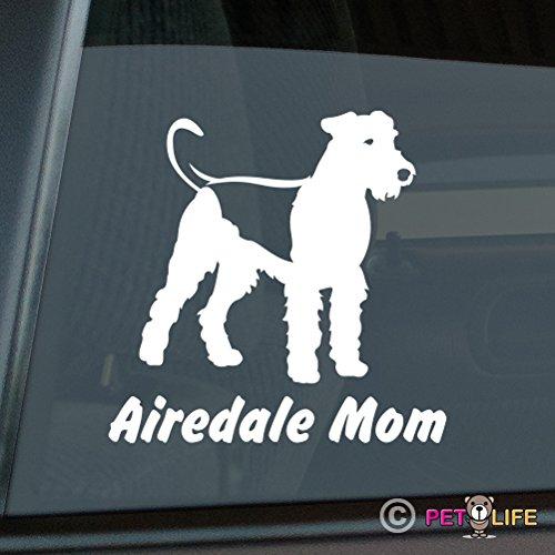 - Airedale Mom Sticker Vinyl Auto Window terrier