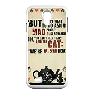 We're All Mad Here Quotes Samsung Galaxy S4 Case White