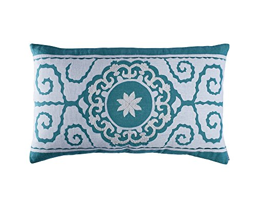 Lili Alessandra L286OW Tangier Rectangle Pillow, Ocean Reef,