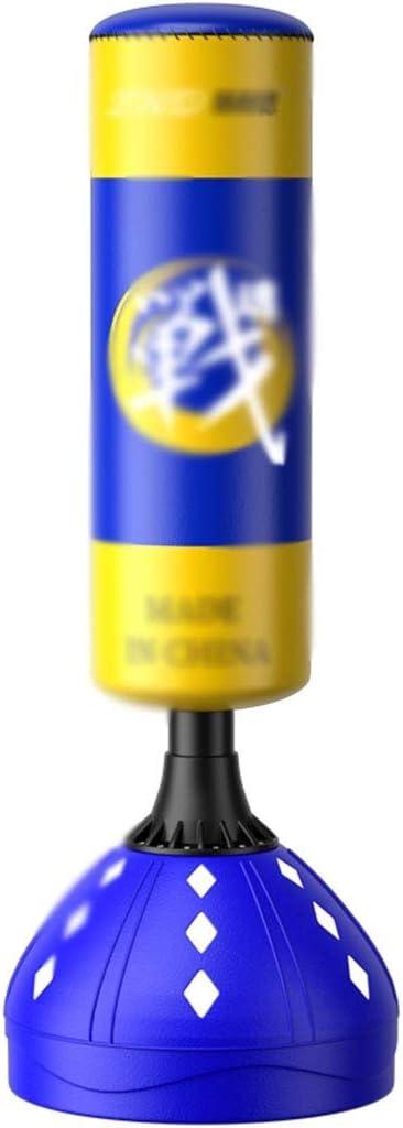 トレーニングバッグ ボクシングパンチバッグスタンディングパンチバッグホーム垂直パンチバッグ武道フィットネスボクシングバッグホームタンブラー (Color : 青, Size : 65*65*178cm) 青 65*65*178cm