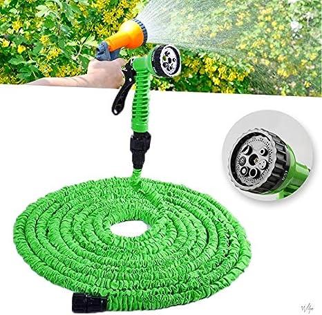 NInyas Flexible Jardín Manguera Flexi Manguera Jardín Manguera Jardín Manguera bewässungs Manguera dehn Bar para casa y Jardín para regar el Jardín Césped riego Auto Lavado DE 30 m: Amazon.es: Jardín