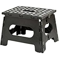 "Folding Step Stool - 11"" Wide - The lightweight step stool is sturdy enough to support adults and safe enough..."