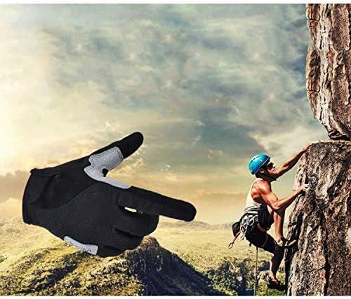 手袋 日常 実用 サイクリンググローブバイク自転車グローブ - ショックアブソービングアンチスリップスエードフルフィンガーグローブ男性/女性、1対 (Color : Gray, Size : M)