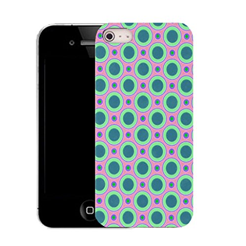 Mobile Case Mate iPhone 5c clip on Silicone Coque couverture case cover Pare-chocs + STYLET - mixed circle pattern (SILICON)